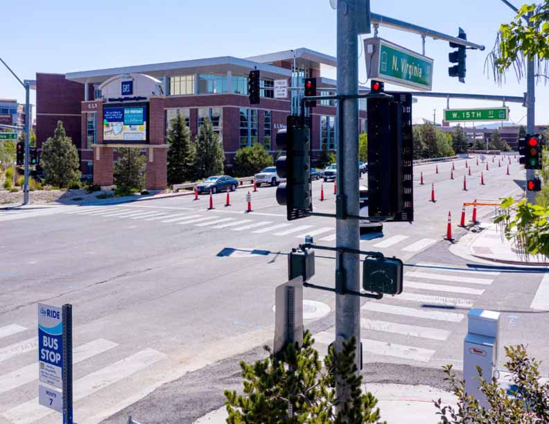 University Of Nevada Reno Nevada Center Applied Research Velodyne Lidar Sensors Crossing Signs Intersections